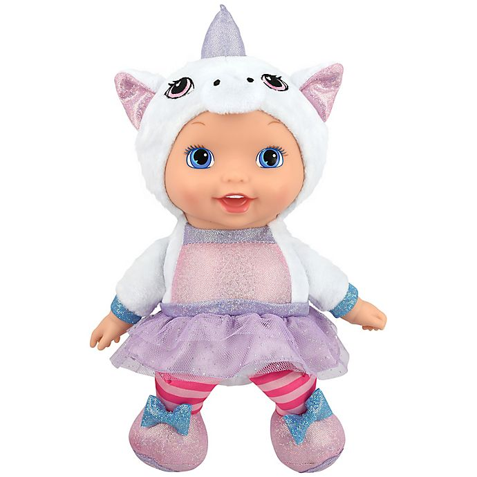 Alternate image 1 for New Adventures Little Darlings 11-Inch Animal Cuties Baby Doll with Unicorn Outfit