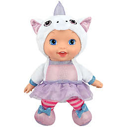 New Adventures Little Darlings 11-Inch Animal Cuties Baby Doll with Unicorn Outfit
