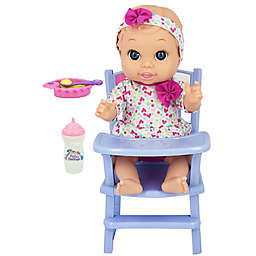 New Adventures Little Darlings Baby Doll Feeding Playtime Set in Coral