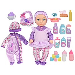 New Adventures Little Darlings Baby Deluxe Set in Purple