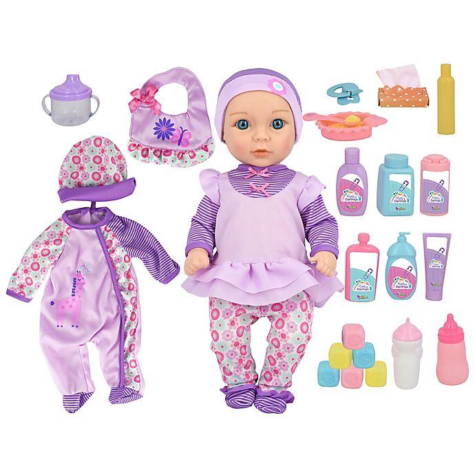 Alternate image 1 for New Adventures Little Darlings Baby Deluxe Set in Purple