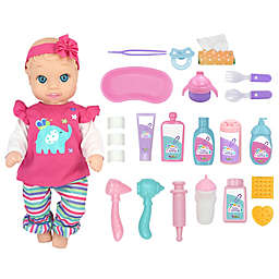 New Adventures Little Darling Baby Doll and Check Up Set in Coral