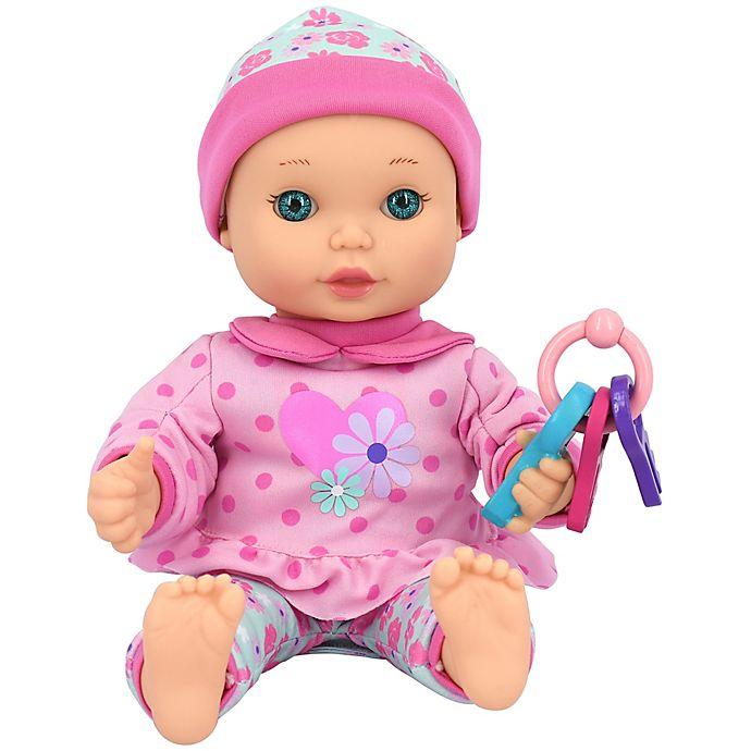 Alternate image 1 for New Adventures Little Darlings 11-Inch Fun with Keys Baby Doll in Pink