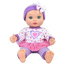 New Adventures Little Darlings 11-Inch Baby Kisses Doll in Purple