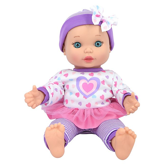 Alternate image 1 for New Adventures Little Darlings 11-Inch Baby Kisses Doll in Purple