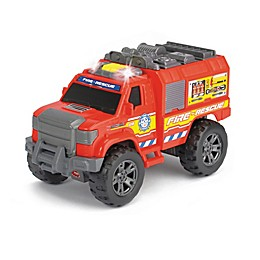 Dickie Toys Light & Sounds Motorized Fire Rescue Vehicle in Red