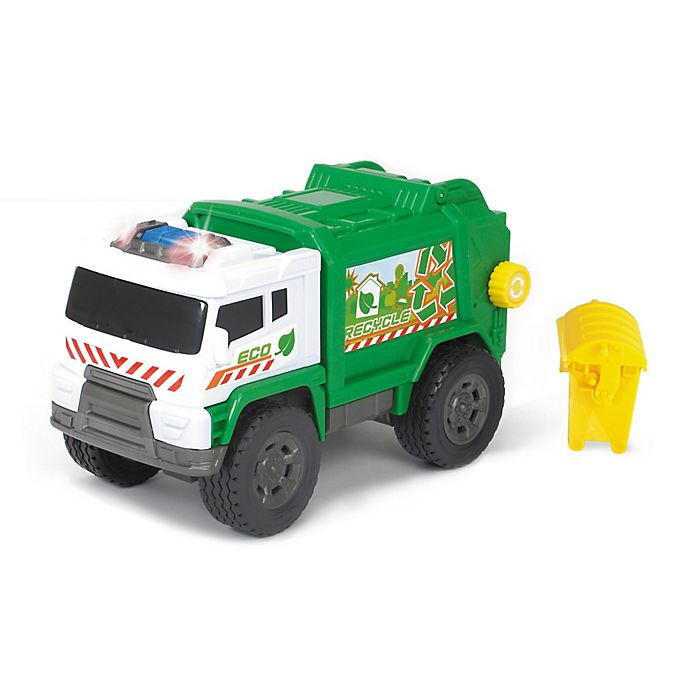 Alternate image 1 for Dickie Toys Light & Sound Motorized Garbage Truck Vehicle