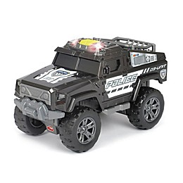 Dickie Toys Light & Sound Motorized Police Unit Vehicle in Black