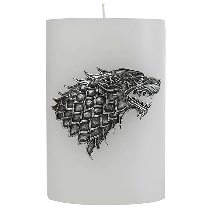 Alternate image 1 for Game of Thrones House Stark Candle