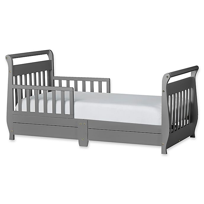 Alternate image 1 for Dream On Me Sleigh Toddler Bed with Storage Drawer
