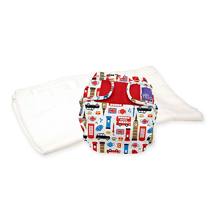 Alternate image 1 for Bambino Mio® Size 12-24M 2-Piece Miosoft Great Britain Reusable Diaper Set