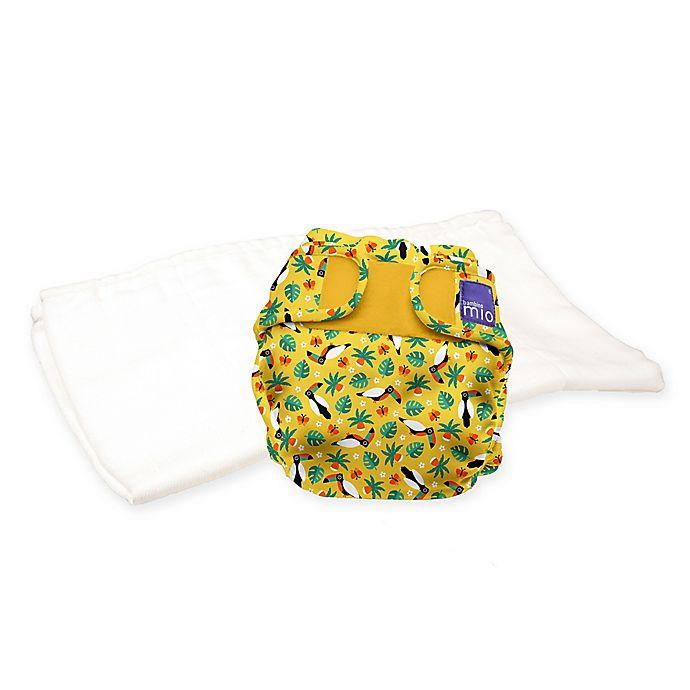 Alternate image 1 for Bambino Mio® Size 12-24M 2-Piece Miosoft Tropical Toucan Reusable Diaper Set