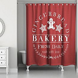 Gingerbread Bakery 71-Inch x 74-Inch Shower Curtain