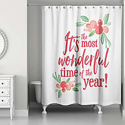 Wonderful Time of the Year 71-Inch x 74-Inch Shower Curtain