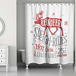 Designs Direct Reindeer Sleigh Rides Shower Curtain