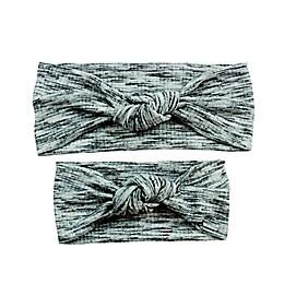 Tiny Treasures™ Knots 2-Piece Mommy and Me Headband Set in Grey