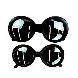 Tiny Treasures™ 2-Piece Mommy and Me Round Sunglasses Set in Black