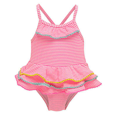 Wetsuit Club® Gingham Tiered Swimsuit in Pink