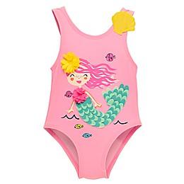 Wetsuit Club 1-Piece Mermaid Swimsuit in Pink