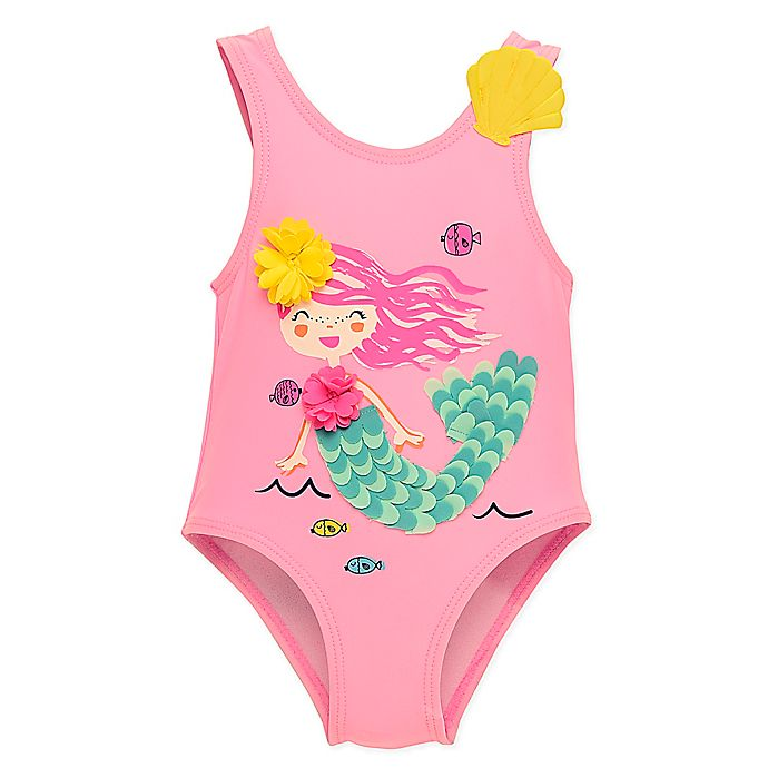 Alternate image 1 for Wetsuit Club 1-Piece Mermaid Swimsuit in Pink