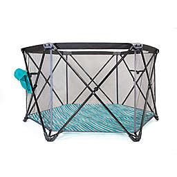 Baby Delight  Go With Me Haven Portable Playard in Teal/Grey