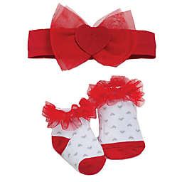 babyGEAR® 2-Piece Headband and Bootie Heart Set