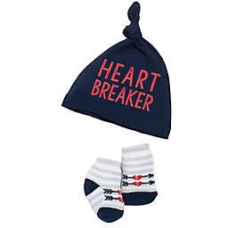 babyGEAR® Hat and Bootie Heart Breaker Set