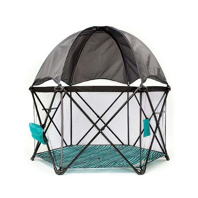 Alternate image 1 for Baby Delight® Go With Me Eclipse Portable Playard in Teal/Grey