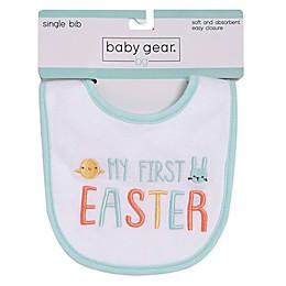 """babyGEAR® """"My First Easter"""" Bib in Aqua"""