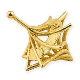 Twisted Hanukkah Dreidel in Gold