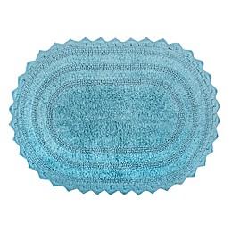 Design Imports Reversible Crochet 21-Inch x 32-Inch Round Bath Mat