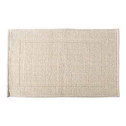 Design Imports Jacquard Bordered 20-Inch x 31-Inch Cotton Bath Mat