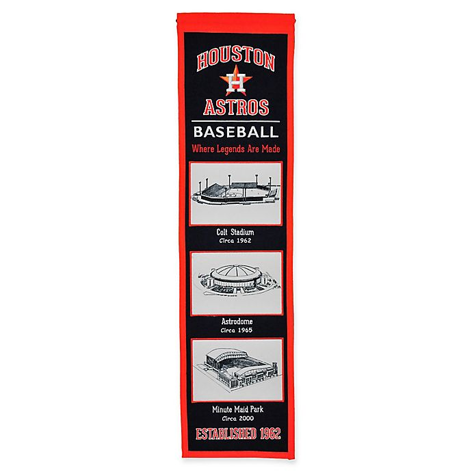 Alternate image 1 for MLB Houston Astros Stadium Evolution Banner