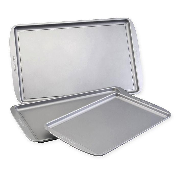 Alternate image 1 for Farberware® 3-Piece Nonstick Cookie Pan Set