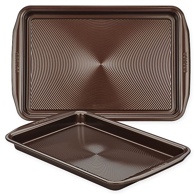 Alternate image 1 for Circulon® Total Nonstick 2-Piece Baking Pan Set in Chocolate