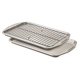 Circulon® Total Non-Stick 3-Piece Baking Pan Set in Grey