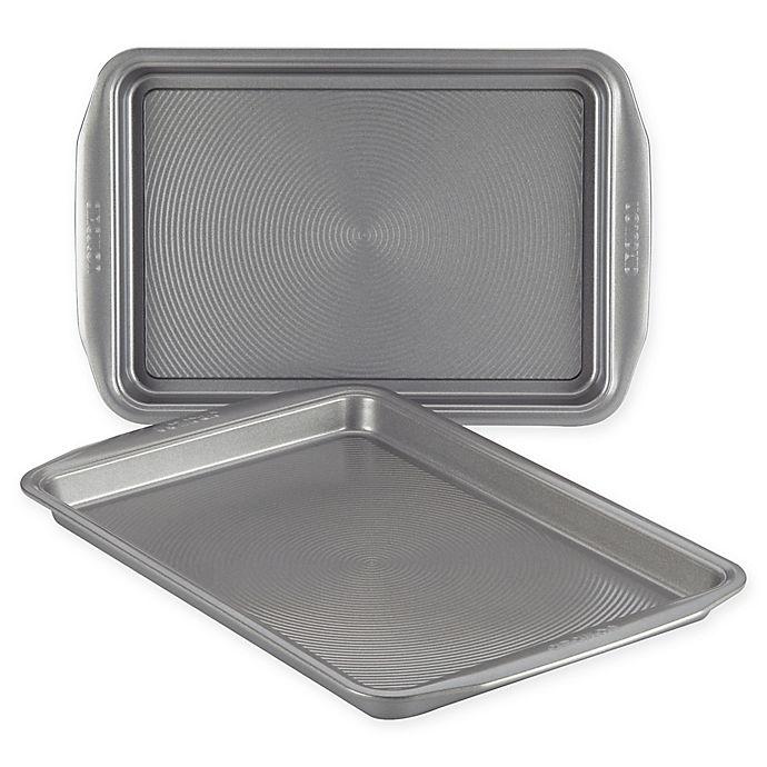 Alternate image 1 for Circulon® 2-Piece Nonstick Cookie Pan Set in Grey