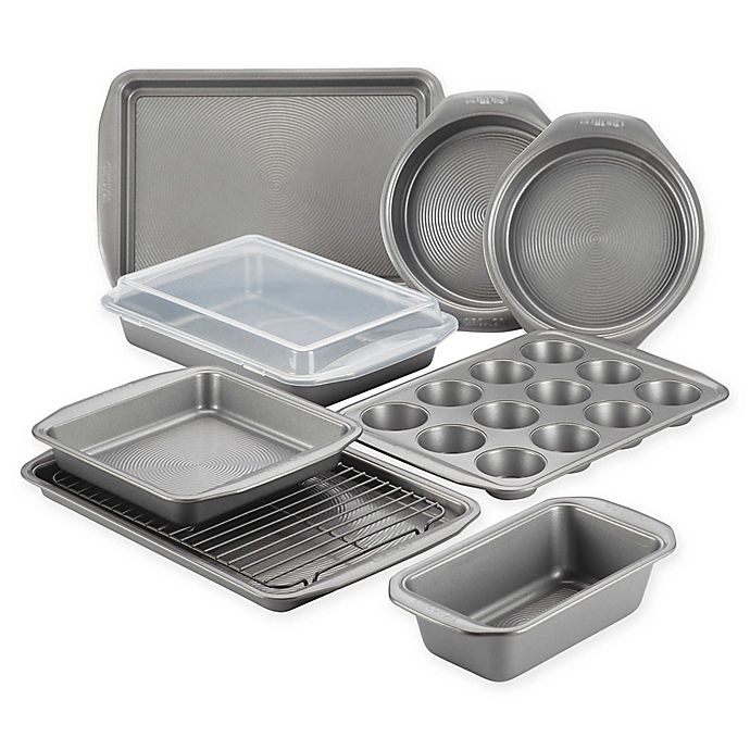 Alternate image 1 for Circulon® Total Non-Stick 10-Piece Bakeware Set in Grey