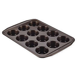 Circulon® Total Nonstick 12-Cup Muffin Pan in Chocolate