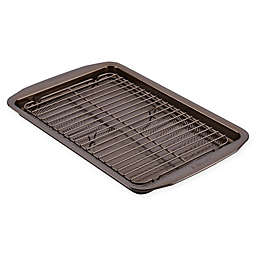 Circulon® Total Non-Stick 2-Piece Baking Pan and Cooling Rack Set in Chocolate