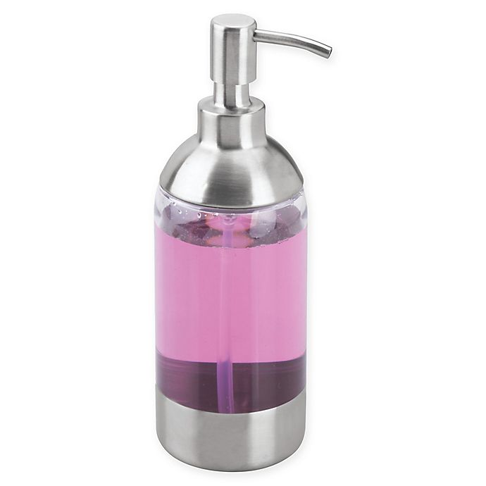 Alternate image 1 for iDesign® Forma Anna Soap Pump in Brushed Silver