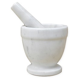 Artisanal Kitchen Supply® Marble Mortar and Pestle in White