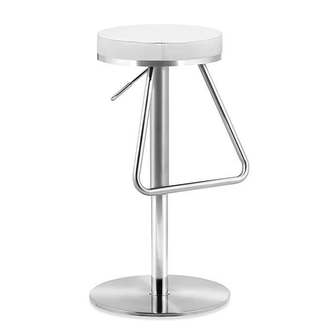 Buy Zuo 174 Modern Soda Barstool In White From Bed Bath Amp Beyond
