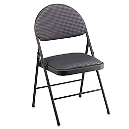 Cosco Oversized Comfort Folding Chair in Black Patterned Fabric