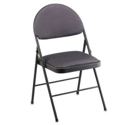 Cosco® Oversized Upholstered Metal Folding Chair In Black   Bed Bath U0026  Beyond