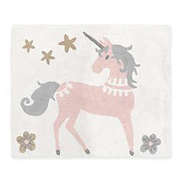 "Sweet Jojo Designs® Unicorn 30"" x 36"" Accent Rug in Pink/Grey"