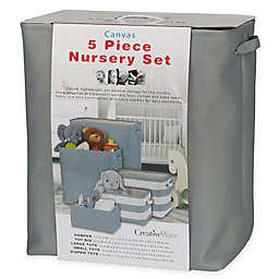 5-Piece Nursery Storage Set in Grey