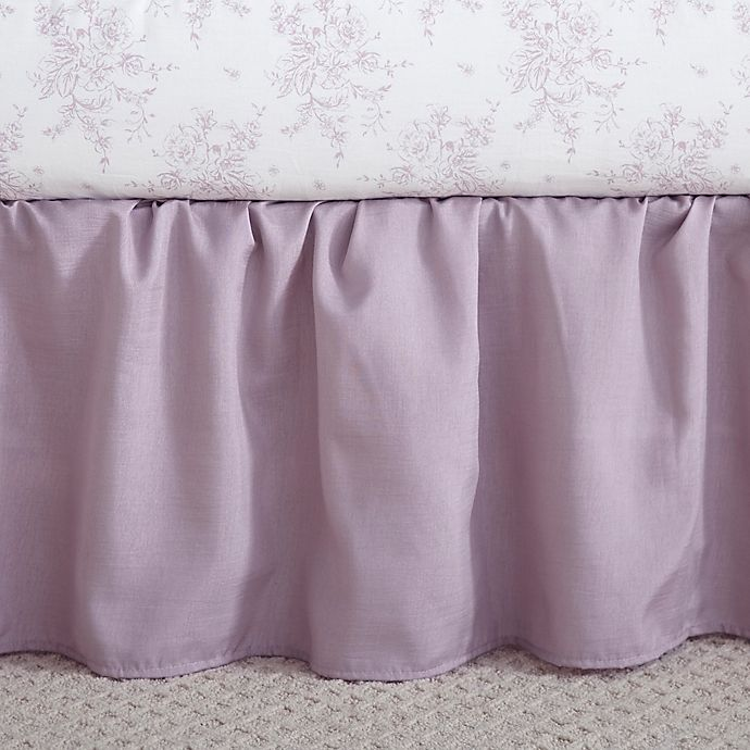 Alternate image 1 for Levtex Baby® Heritage Crib Skirt in Lilac