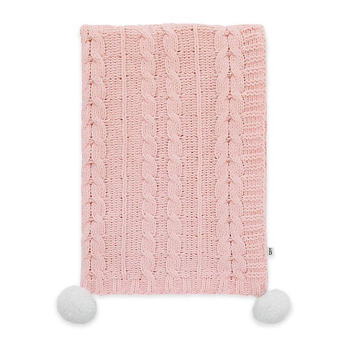 Alternate image 1 for ED Ellen DeGeneres Painterly Floral Cable Knit Baby Blanket in Pink