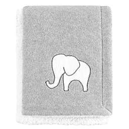 Hudson Baby® Elephant Fleece Blanket in Grey